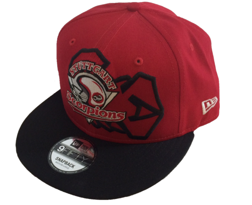 New Era Team Cap 950 Basic - rot inkl. Scorpion